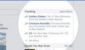 Facebook zeigt Trendthemen an (Foto)