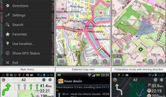 Mit OsmAnd wird das Smartphone zum Navigationsgerät. (Foto)