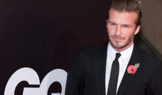 David Beckham ordnet alles in einer geraden Linie oder Anzahl. (Foto)