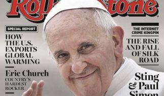 Papst Franziskus ziert das «Rolling Stone»-Cover. (Foto)