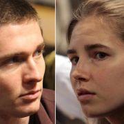 Die Angeklagten Raffaele Sollecito und Amanda Knox im September 2011 vor Gericht.