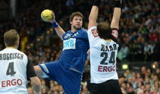 Deutsche Handballer gewinnen gegen Bundesliga-Allstars (Foto)