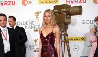 Bereicherung für den Trophäenschrank: Schauspielerin Gwyneth Paltrow wurde mit der «Goldenen Kamera» als beste Schauspielerin international ausgezeichnet. (Foto)