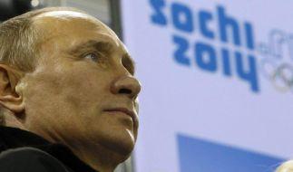 Die Winterspiele in Sotschi sind ein Prestigeprojekt von Russlands Präsident Putin. (Foto)