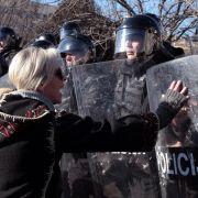 Demonstranten fordern Revolution in Bosnien (Foto)