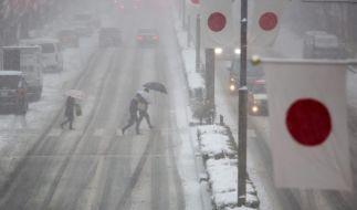 Sieben Tote bei Schneesturm in Japan (Foto)