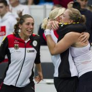 Sogar Vize-Kanzler gratuliert - Tennis-Damen begeistern (Foto)