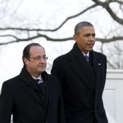 Hollande beginnt Staatsbesuch in USA (Foto)