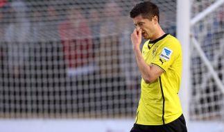 Harte Zeiten: Robert Lewandowski wird in Dortmund bepöbelt und beklaut. (Foto)