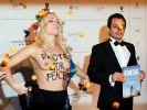Femen-Frau Inna Schewtschenko erinnert bei der Berlinale an die Repressionen in der Ukraine. (Foto)