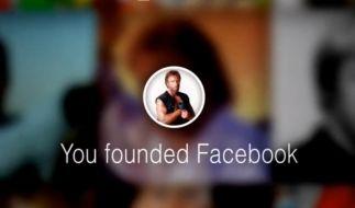 Chuck Norris wird in seinem Lookback kurzerhand zum Facebook-Gründer. (Foto)