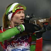 Domratschewa gewinnt Biathlon-Verfolgung inSotschi (Foto)