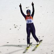 Vogt erste Skisprung-Olympiasiegerin (Foto)