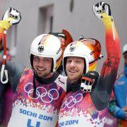 Deutschland im Gold-Rausch - Rodler holen dritten Sieg (Foto)