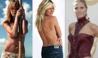Auch an Heidi Klum geht die Zeit nicht vorbei. (Foto)