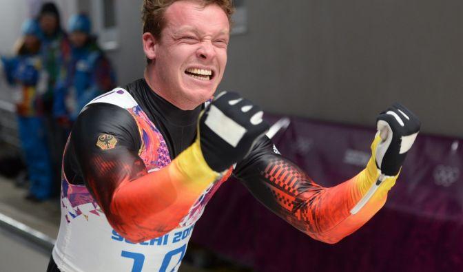 Er gewann das erste Gold für Deutschland in Sotschi: Rodler Felix Loch.