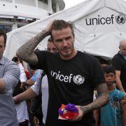 David Beckham spricht «Haiyan»-Opfern Mut zu (Foto)