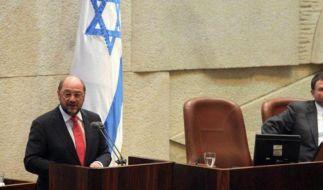 Nach Protest in Knesset erhält Schulz auch Zuspruch in Israel (Foto)