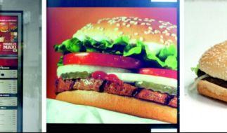 Der echte Burger hat mit dem Produktbild wenig zu tun. (Foto)