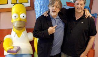 «Simpsons»-Erfinder Matt Groening (M.) und Produzent Al Jean (r.) im Jahre 2007. (Foto)