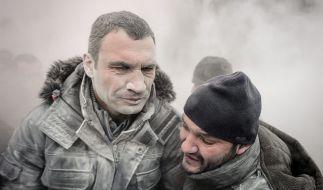 Klitschko in Kiew: Bei der Revolution auf dem Majdan beißt der Oppositionsführer auf die Zähne. (Foto)