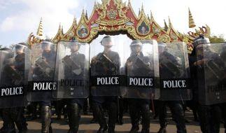 Räumungsaktion gegen Demonstranten inThailand (Foto)