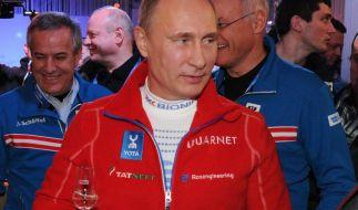 Putin besucht USA-Haus vor Eishockey-Duell (Foto)
