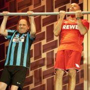 Uwe Ochsenknecht (links) und Heiner Lauterbach müssen bei Thomas Gottschalk ihren Mann stehen.