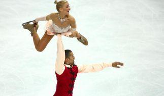 Aljona Savchenko und Robin Szolkowy holten Bronze. (Foto)