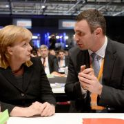 Klitschko und Jazenjuk bei Merkel (Foto)