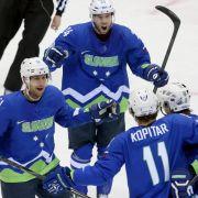 Erfolg: Sloweniens Eishockey-Team im Viertelfinale (Foto)