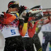 Auch Biathlon steht heute auf dem Olympia-Programm: 15:30 Uhr Biathlon, Mixed-Staffel (Medaillen-Entscheidung).