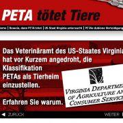 Auf einer Webseite werden grausame Vorwürfe gegen die Tierschutzorganisation PETA laut.