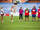 Die Challenge im Fußballstadion hatte es in sich. (Foto)