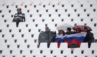 Leere Ränge bei Olympia: Die Ski-alpin-Wettbewerbe sind wie hier beim Riesenslalom schlecht besucht. (Foto)