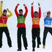 Kombinierer mit Team-Silber - Skicrosser ohne Medaille (Foto)