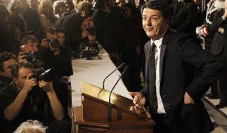 Designierter Regierungschef Renzi stellt Kabinett vor (Foto)