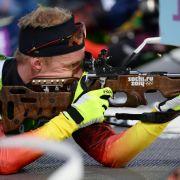 Deutsche Biathleten holen Staffel-Silber (Foto)