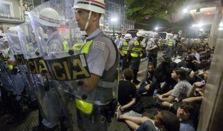 Ausschreitungen bei Protesten gegen Fußball-WMin Brasilien (Foto)