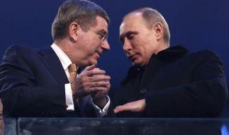 Sicher, sauber, siegreich: Putin feiert Olympia (Foto)