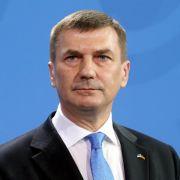 Estlands Regierungschef Ansip kündigt Rücktritt an (Foto)