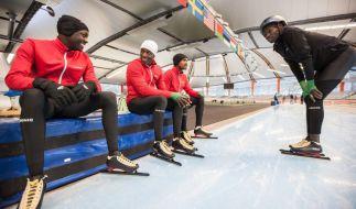 Team Kenia bereitet sich auf den Wettkampf vor. (Foto)