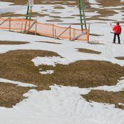 Schneehöhen in Europa: Skifahren nicht überall möglich (Foto)