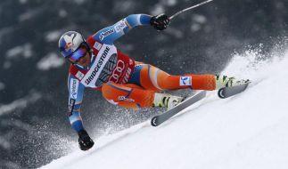 Keine Pause für die alpinen Rennfahrer: In Santa Caterina wartet eine rasante Abfahrt. (Foto)