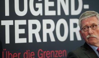 Er polarisiert: Thilo Sarrazin bei der Präsentation seines Buchs «Der neue Tugendterror». (Foto)