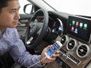 Mit CarPlay, das iPhone und Navigationssystem des Autos verbindet, ist es möglich, Musik zu hören, zu navigieren, Nachrichten zu empfangen und zu telefonieren. (Foto)