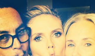 Bei Instagram übt Heidi schon den Schnabel-Kuss. (Foto)