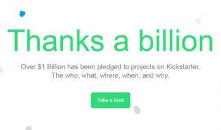 Kickstarter-Projekte sammeln eine Milliarde Dollar ein (Foto)