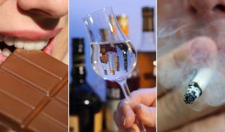 Schokolade, Alkohol und Nikotin sind für viele in der Fastenzeit tabu. (Foto)