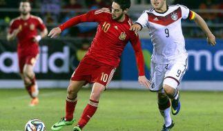 Spaniens U 21 überragend - Hrubesch: «Können mithalten» (Foto)